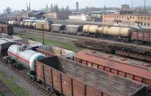 РЖД сообщает о снижении объемов перевозимых грузов
