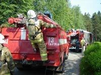 Учения по противопожарной безопасности в лагере