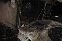 Хонда врезалась в киоск Роспечать и загорелась