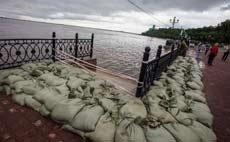 В Хабаровске подтопило несколько сотен домов