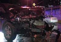Авария на перекрестке Щорса - Серова в Екатеринбурге
