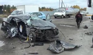 В ДТП на Тюменском тракте в районе поселка Белоярский погибла женщина