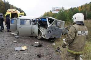На 155 км Серовской трассы Хонда врезалась в УАЗ, у села Кайгородское перевернулся Рено, погибли 4 человека