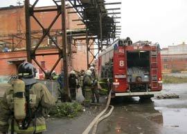 Пожар на Екатеринбургском мясокомбинате потушен, пострадавших нет