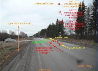 В ДТП на 21 километре салдинского тракта столкнулись 4 автомобиля