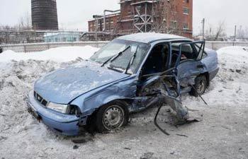 На Индустриальной Тойота столкнулась с Дэу, пострадал человек