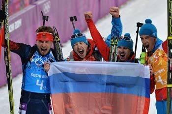 Россия вышла на первое командное место в медальном зачёте