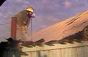 Сегодня днём на Тагилстрое горел жилой дом