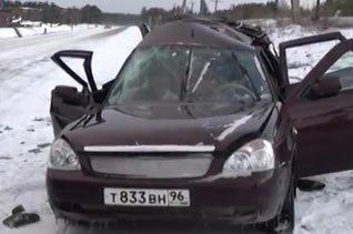 На 101 км серовской трассы Лада Приора столкнулась с УАЗом, погибли 4 человека