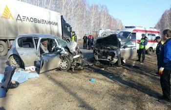В ДТП на 69 км трассы Екатеринбург - Курган погибли женщина и 5-месячный ребенок