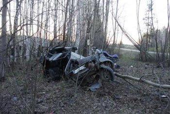ВАЗ-21140 улетел в кювет на трассе