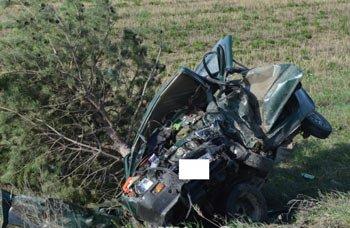 На трассе Екатеринбург-Тюмень ВАЗ-099 врезался в Оку, погибли 2 человека
