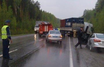 В ДТП на 340 км автодороги Ектеринбург - Серов погибли 2 человека