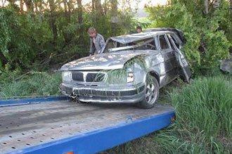 ГАЗ-3110 перевернулся недалеко от села Покровское