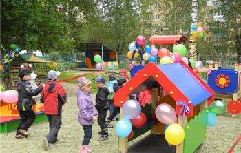 Новая игровая площадка появилась в детском саду №157
