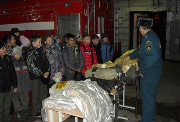 Кадеты из школы №21 побывали с экскурсией в пожарной части №13