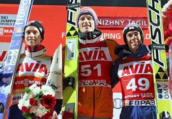 Победителем 8-го этапа Кубка мира по прыжкам на лыжах с трамплина стал немецкий спортсмен Северин Фройнд