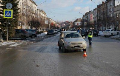 В центре города сбили пешехода на зебре