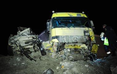 Под Ревдой столкнулись грузовик