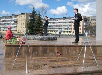 Школьники Вагонки несут почетную вахту на площади Славы