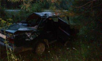 Пьяный водитель улетел в кювет под Нижним Тагилом, пострадали 4 человека