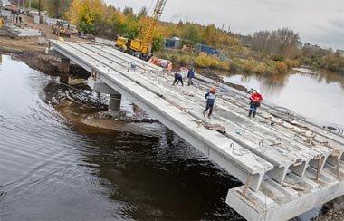 Временный мост на улице Красноармейская планируют закончить к 15 ноября