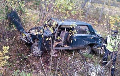 Пьяный водитель ВАЗ-05 улетел в кювет под Нижним Тагилом