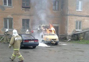 На Учительской сгорела пассажирская