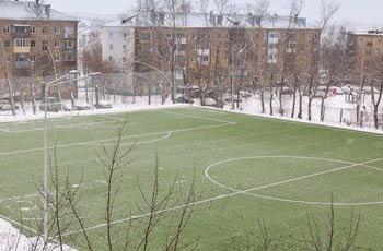 В Нижнем Тагиле появилось ещё одно футбольное поле с искусственным покрытием