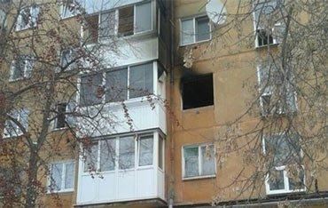 На Новострое горела квартира в жилом доме