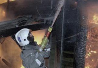 В Первомайке сгорела частная баня