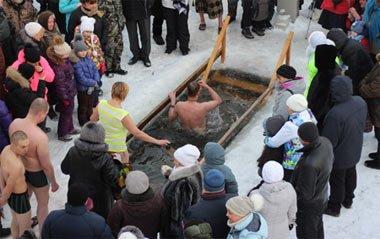 Крещенские купания в селе Усть-Утка под Нижним Тагилом