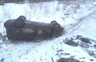 На ЕКАД в ДТП погиб водитель а/м ГАЗ-3110