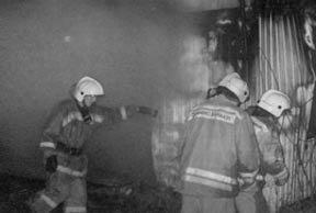 Пожар на Вагонке в частном секторе на улице Охотников