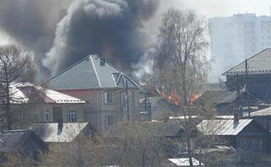 1 мая на Старой Гальянке сгорел жилой дом на улице Рабочая