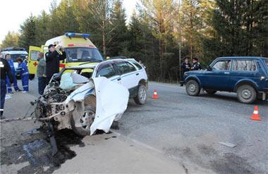 В районе Черноисточинска в ДТП погиб грудной ребенок, 4 человека получили травмы