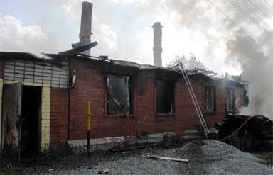 На Старой Гальянке сгорел жилой дом на улице Малая Гальянская
