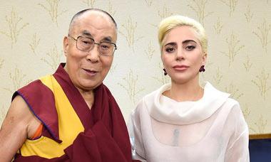 Леди Гага под запретом в Китае после встречи с далай-ламой