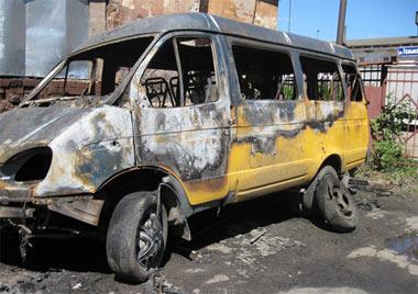 В выходные на Вагонке сгорели два овощных киоска и пассажирская