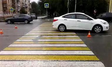На Вагонке иномарка сбила пенсионерку на пешеходном переходе
