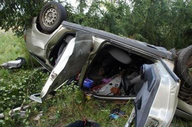 В районе Исинского тракта перевернулся ВАЗ-2112, водитель погиб