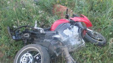 Мотоциклист на