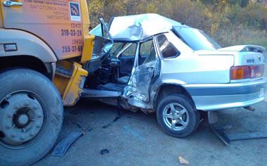 В ДТП на ЕКАД погибла женщина-пассажир ВАЗ-2115