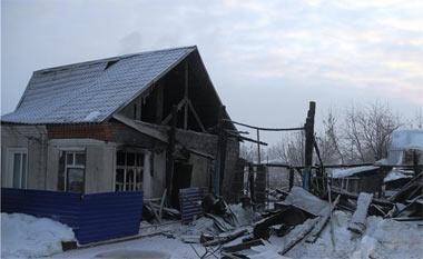 На Старой Гальянке горел жилой дом по улице Рабочая