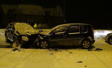 В столкновении трёх автомашин на ГГМ пострадали два человека