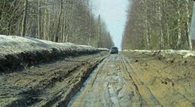 Владимир Путин поручил губернатору области заняться дорогой до села Серебрянка