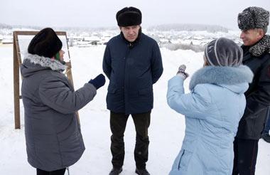 Губернатор посетил село Серебрянка