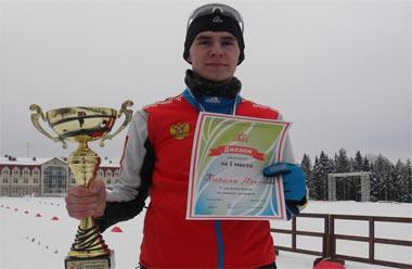 Максим Кипин выиграл этап Кубка России по лыжному двоеборью