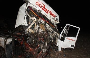 В районе Малой Лаи столкнулись три грузовика