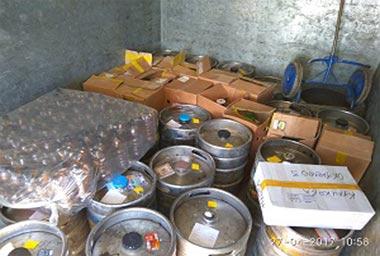 В пригороде Нижнего Тагила задержана фура с контрафактным алкоголем